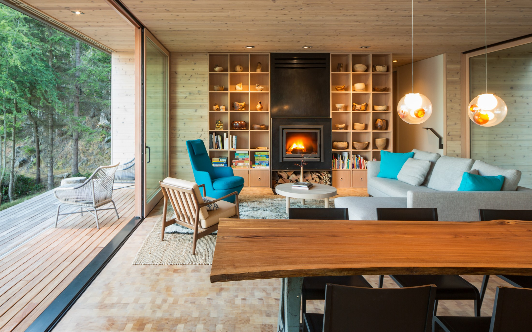 Lone madrone living room